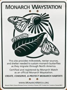 Monarach Waystation sign